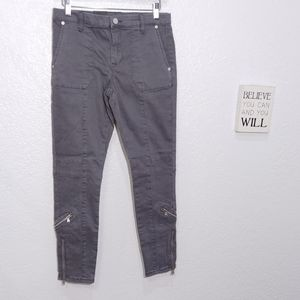 Blank NYCTwill Skinny Pant With Zippers